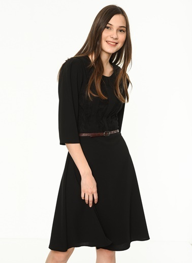Kısa Kloş Elbise-Bovona
